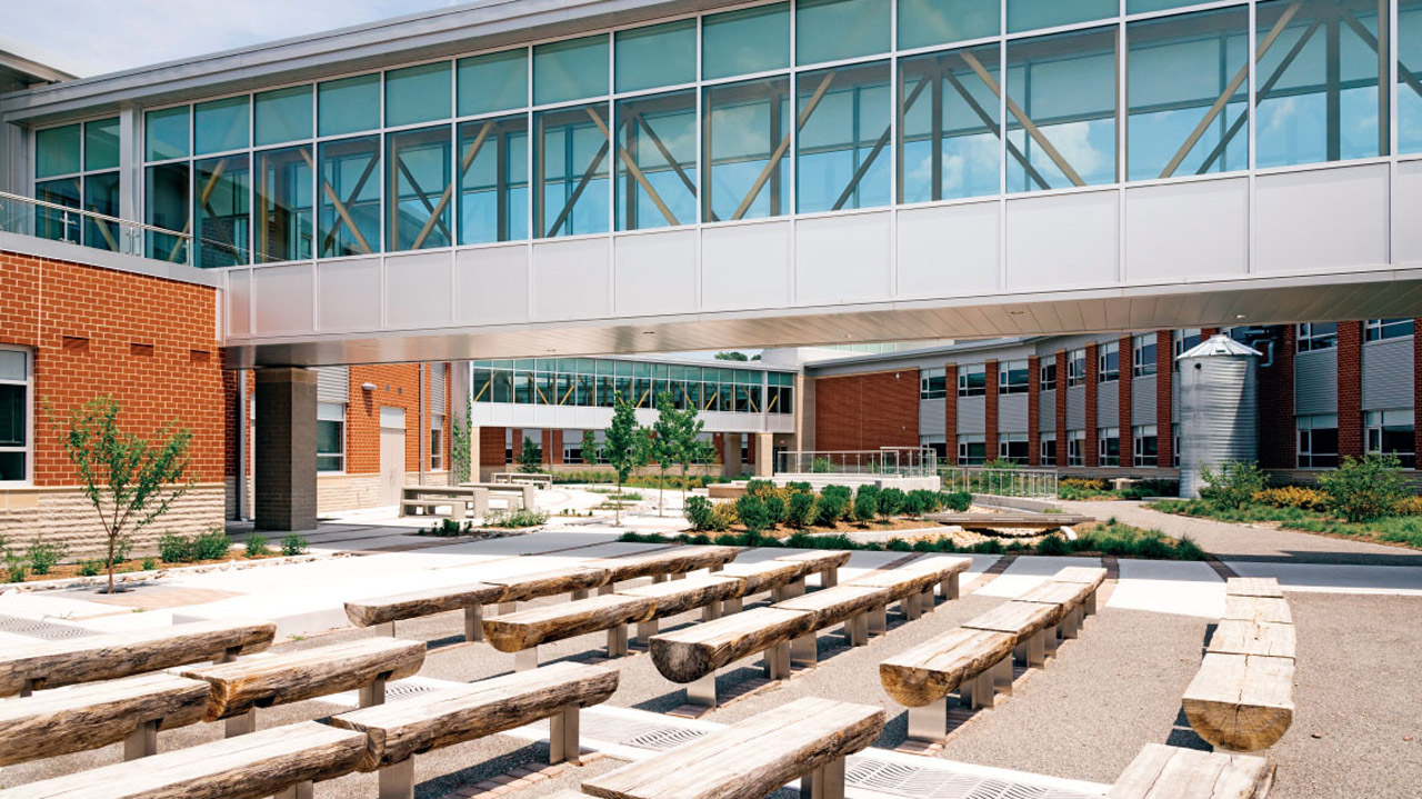 Kellam Highscool, LEED Certified Silver