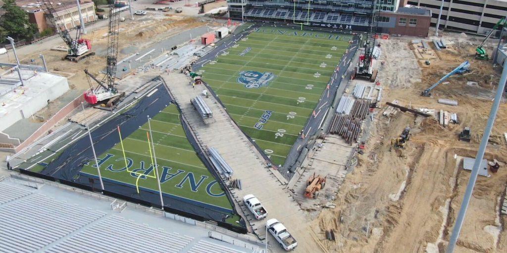 ODU Stadium is taking shape
